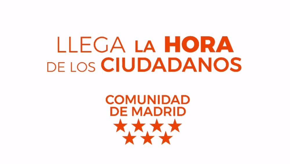 Eslogan del nuevo vídeo de Ciudadanos Madrid para presentar a su equipo de Gobierno