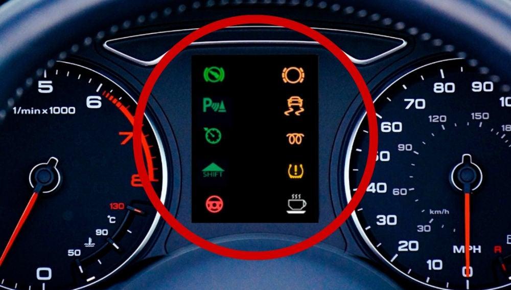 Símbolos en el salpicadero del coche