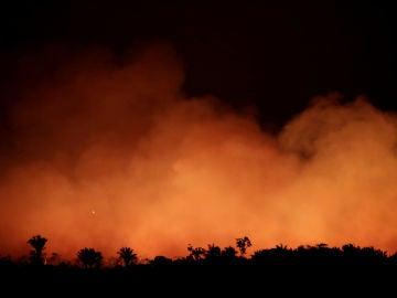 El Amazonas, en llamas