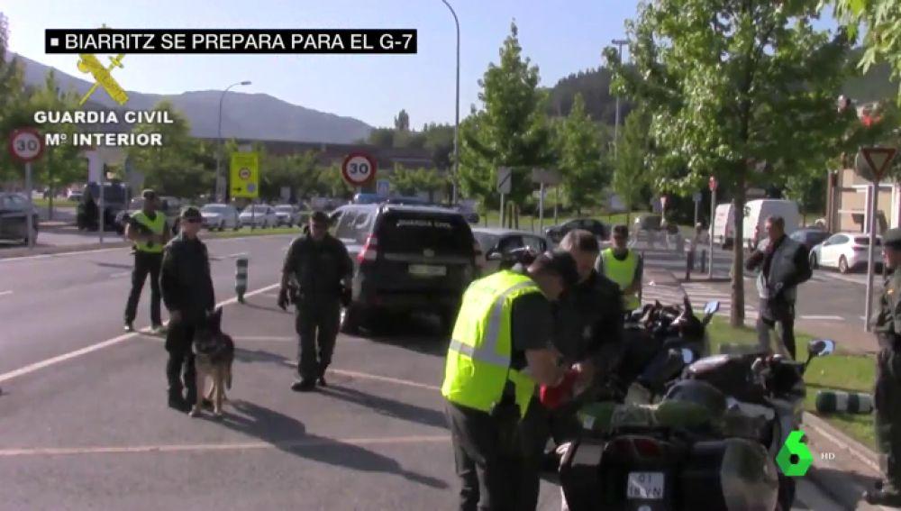 Controles policiales por tierra, mar y aire: así se blinda la ciudad francesa de Biarritz para la Cumbre del G7