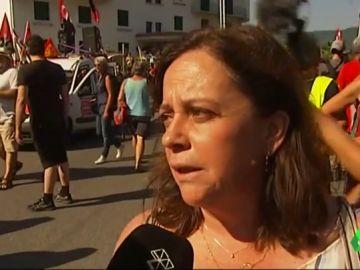 Manifestación en Biarritz
