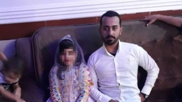 Imagen del día de la boda entre una menor de nueve años y un hombre de 28