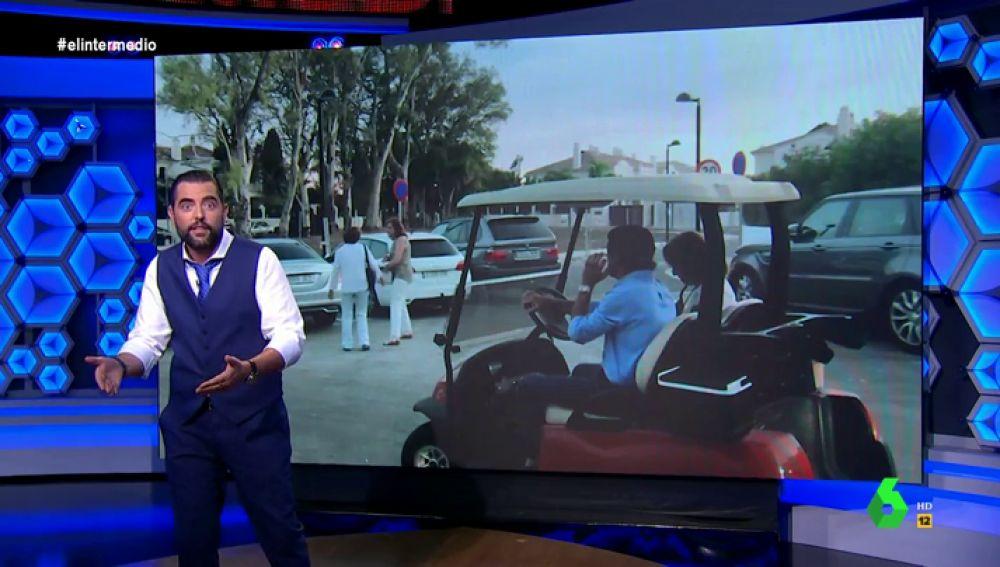 """Dani Mateo alucina con la aparición estelar de Aznar y Botella: """"¿Qué lleva a alguien a aparecer con un carrito de golf a un funeral?"""""""