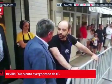 Revilla abronca al hombre que insultó a Sánchez en Cantabria