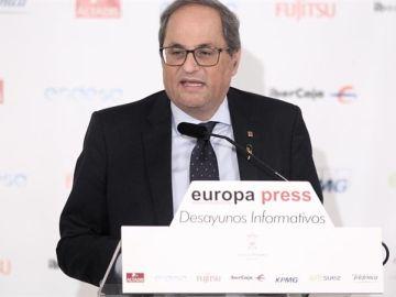 Quim Torra en el desayuno informativo de Europa Press