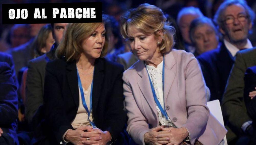 María Dolores de Cospedal y Esperanza Aguirre