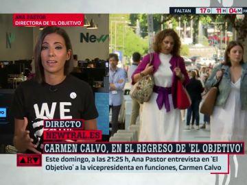 Ana Pastor desgrana los detalles de la reunión entre los equipos negociadores de Unidas Podemos y PSOE