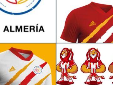 Los cambios en el Almería: nuevo escudo, nuevas camisetas...