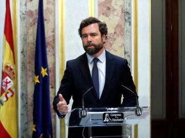 Iván Espinosa de los Monteros, portavoz de Vox en el Congreso