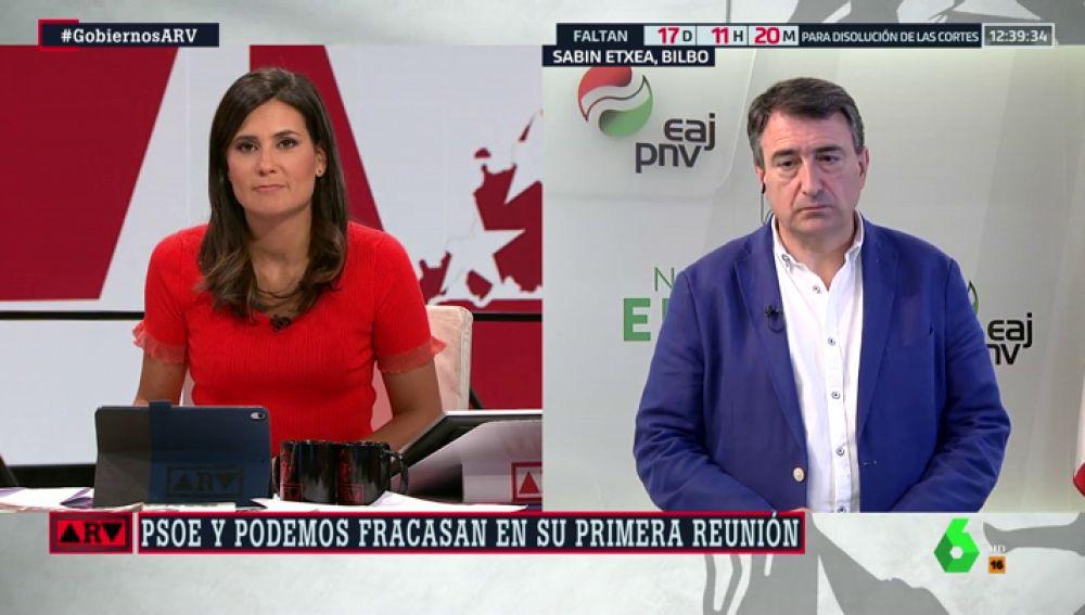 """Aitor Esteban (PNV) teme una repetición electoral tras la reunión entre PSOE y Podemos: """"No veo flexibilidad ni en unos ni en otros"""""""