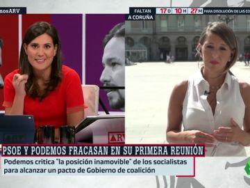"""Yolanda Díaz (Galicia en Común): """"Mientras sigamos dialogando, hay una posibilidad de llegar a un acuerdo"""""""