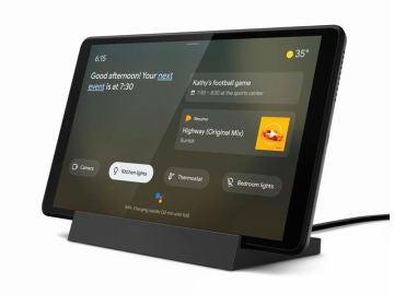 Tableta con Ambient Mode mientras carga