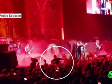 Agresión en un concierto de Iron Maiden