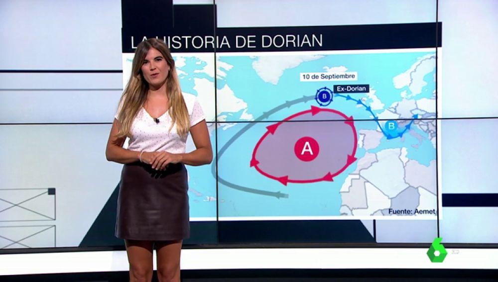 Avance del huracán Dorian