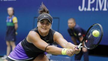 Bianca Andreescu, en el partido contra Serena Williams