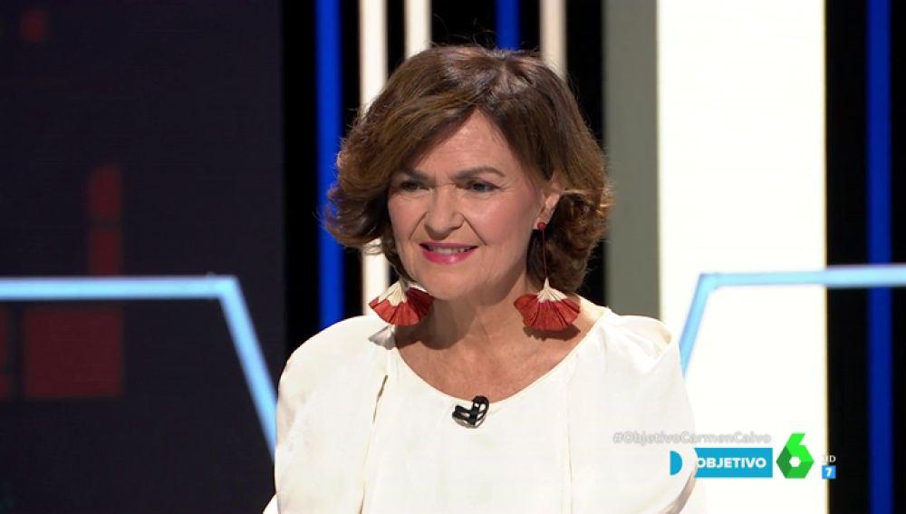 Carmen Calvo, en El Objetivo