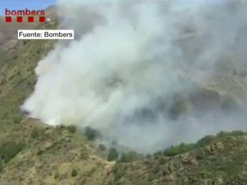 Imagen del incendio declarado en Lleida