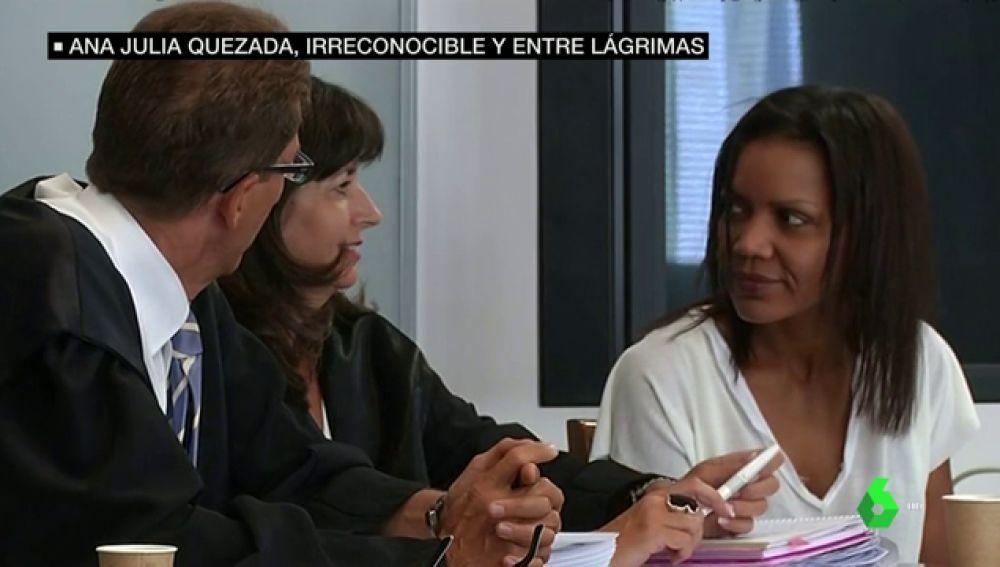 Ana Julia Quezada durante el inicio del juicio