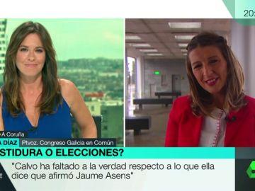 """Yolanda Díaz (UP): """"Vamos a negociar. Ni el PSOE va con lineas rojas ni nosotras tampoco"""""""