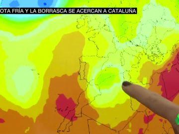 Alerta por fuertes lluvias ante la combinación de una DANA y una borrasca en el Mediterráneo