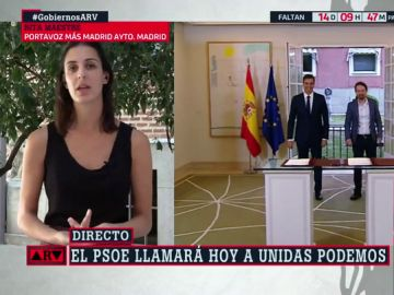 """Rita Maestre (Más Madrid): """"El acuerdo entre PSOE y Unidas Podemos es relativamente sencillo si ambas partes ceden"""""""
