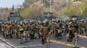 Disturbios en Santiago de Chile.