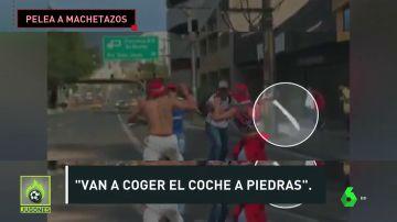 Brutal batalla campal entre los ultras de Medellín y Nacional en la previa del clásico de Medellín