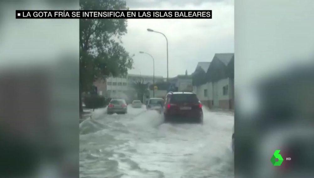 Olas de hasta siete metros e inundaciones en las calles: los efectos de la gota fría se intensifican en Islas Baleares