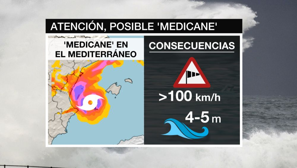Posible 'medicane' en el Mediterráneo