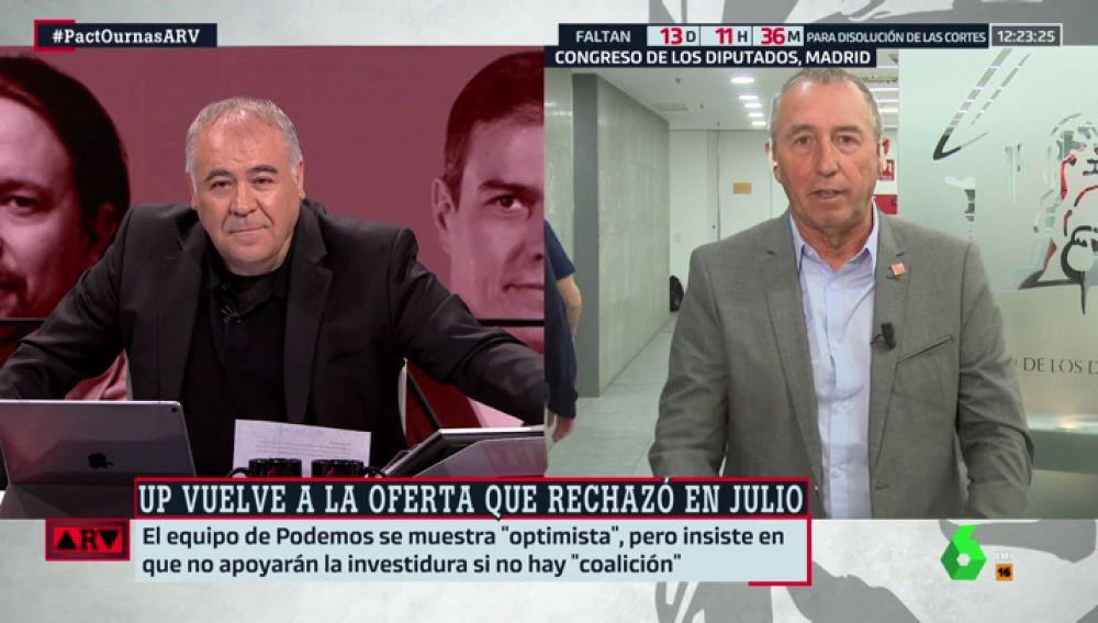 """Joan Baldoví: """"Si hay elecciones y la derecha suma, siendo Sánchez no sabría dónde esconderme"""""""
