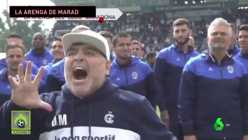 Inédito: la emocionante arenga de Maradona en su primer entrenamiento con el Gimnasia y Esgrima La Plata