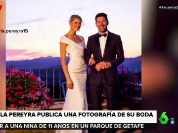 Imagen de la boda de Carla Pereyra y Diego Simeone