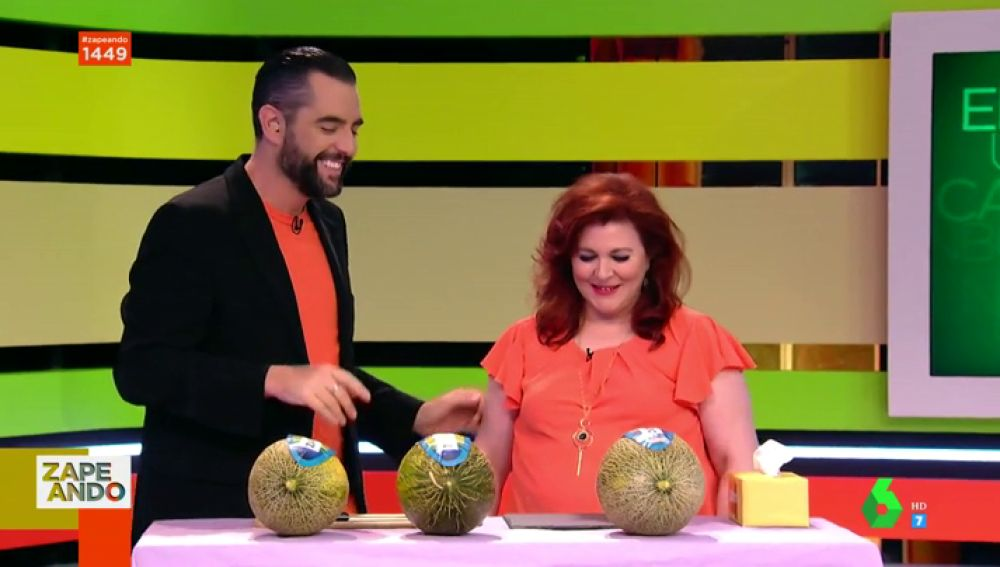 Encarni, 'la reina del unboxing' llega al plató para demostrarnos su habilidad catando melones