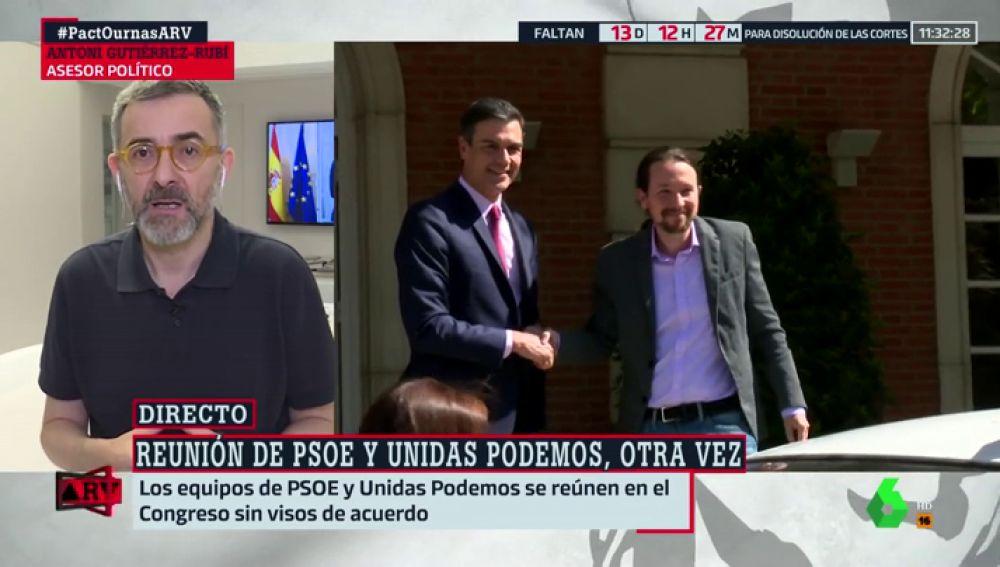 """Antoni Guitiérrez-Rubí: """"Si hay acuerdo entre PSOE y Unidas Podemos, empezará con desconfianzas y con fecha de caducidad"""""""