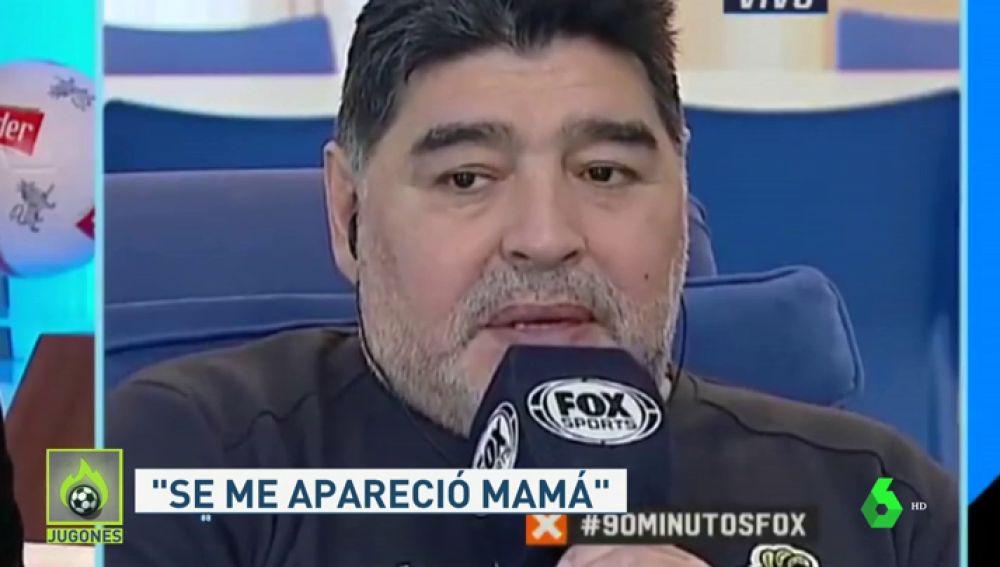 """Maradona contesta a los que critican su forma de hablar: """"Tenía el pecho cerrado"""""""