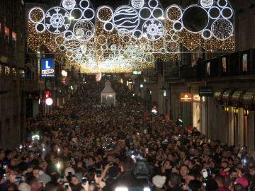 Luces de Navidad en Vigo en 2018