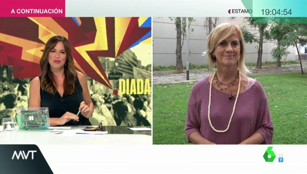 """Gemma Nierga: """"En la Diada se manifiestan para pedir la independencia, excluyentes son los actos institucionales de la Generalitat"""""""