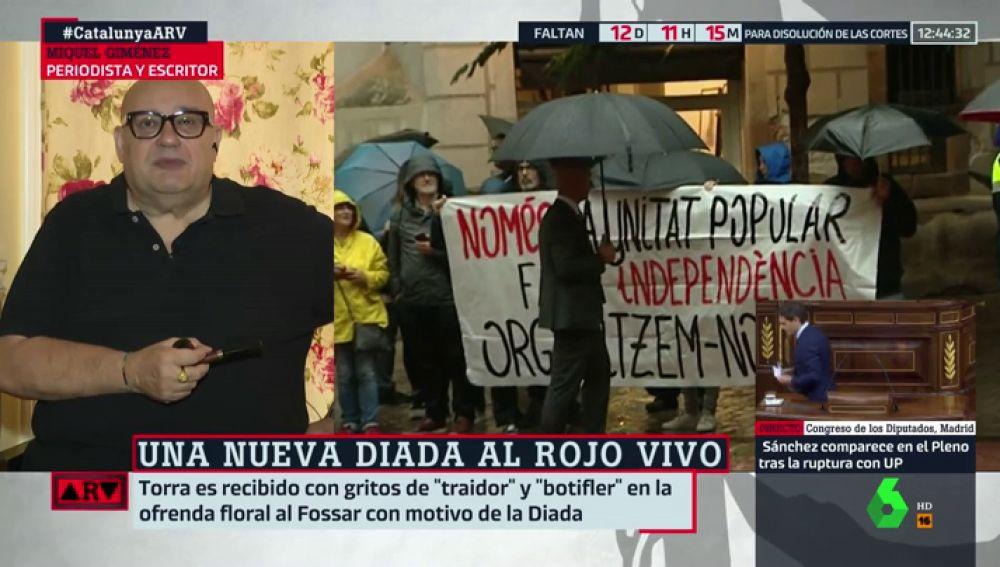 """Miquel Goménez: """"La Diada se ha convertido en un espectáculo al servicio del separatismo"""""""