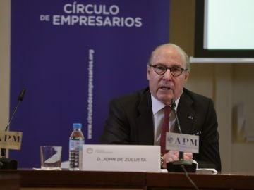 El presidente del Círculo de Empresarios, John de Zulueta.