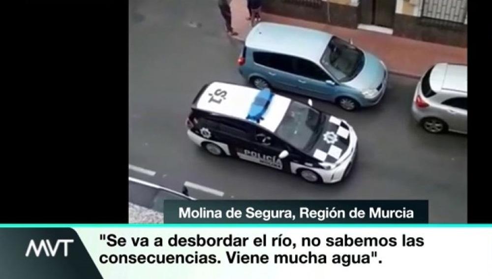 La Policía desaloja Molina de Segura, en Murcia