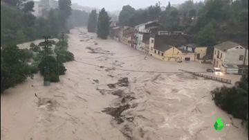 Récord en Ontinyent: más de 400 litros por metro cuadrado que han desbordado el río Clariano