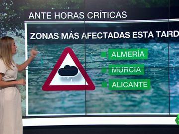 Sigue la alerta roja histórica por gota fría: lo peor está por llegar en Alicante, Murcia y Almería