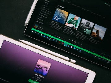 Spotify en dos tabletas