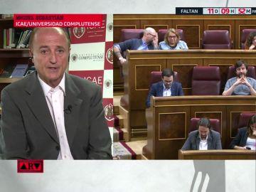 """Miguel Sebastián: """"Si vamos a elecciones, los partidos tienen que decir si van a seguir bloqueando"""""""