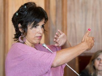 Teresa Rodríguez durante el juicio contra el empresario Manuel Muñoz Medina