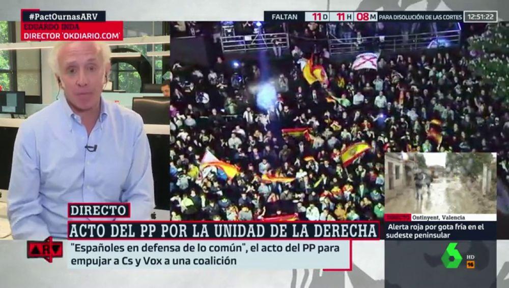 """Eduardo Inda: """"O la derecha se une o no volverá a gobernar España"""""""