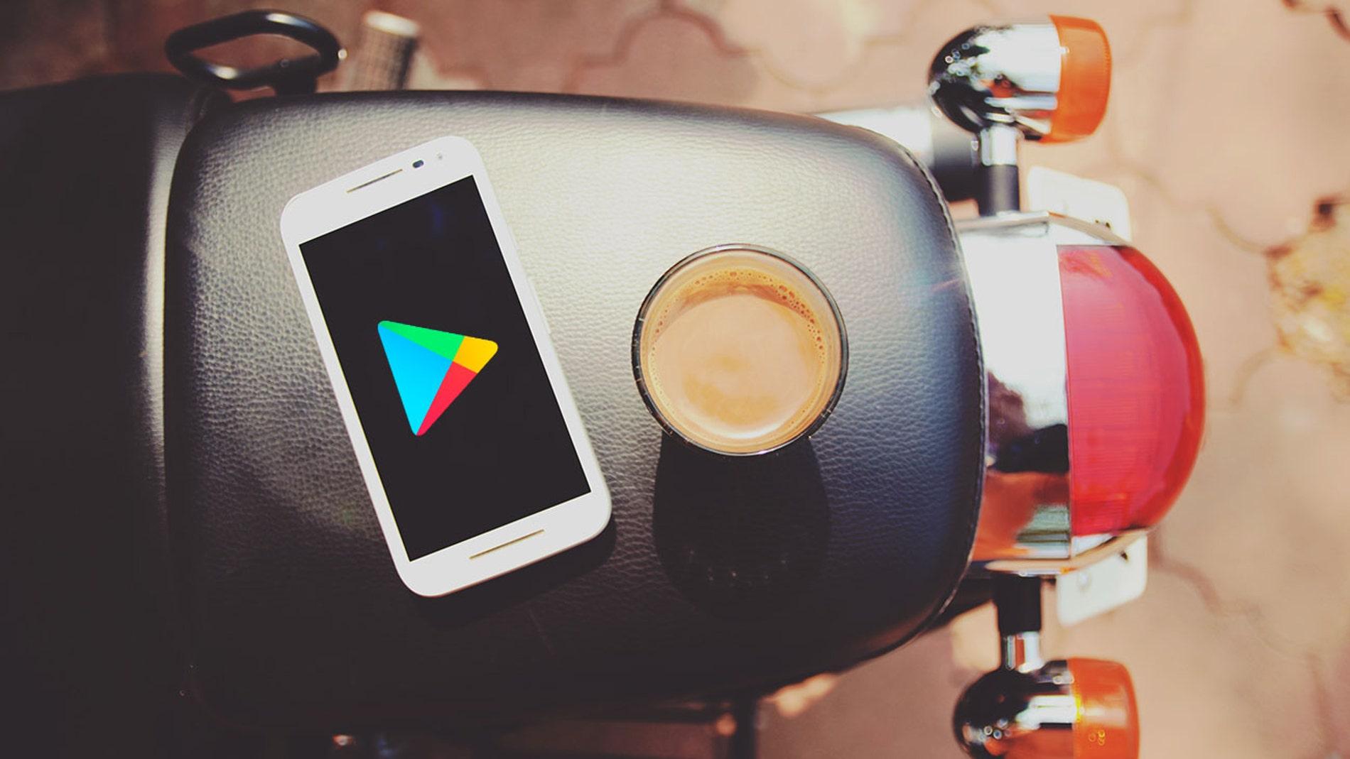 Modo oscuro de Google Play