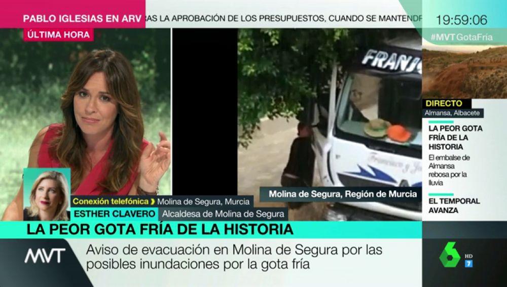 """La alcaldesa de Molina de Segura pide """"máxima prudencia y sentido común"""" ante el riesgo de desbordamiento del río"""