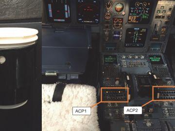 Ejemplo de taza como la que causó el fallo y localización de los controles