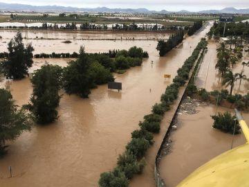 Los Alcazares, en Murcia, ha sido una de las zonas más afectadas por la DANA este viernes